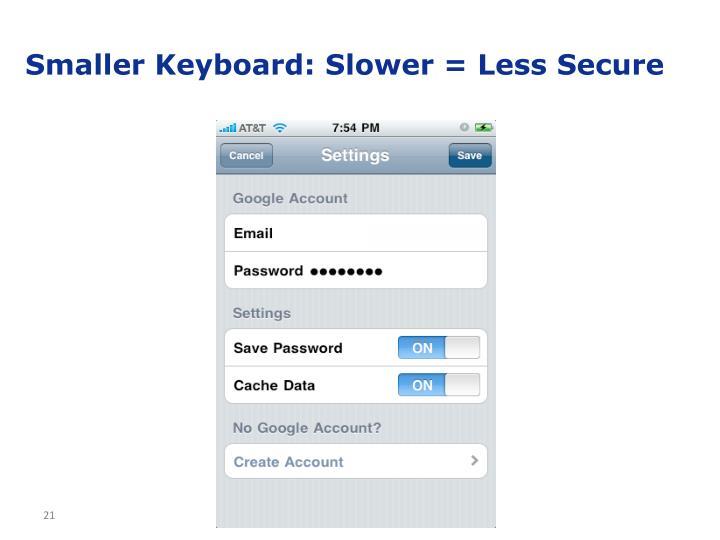 Smaller Keyboard: