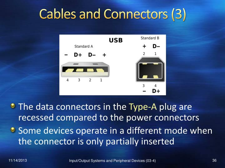 Cables and Connectors (