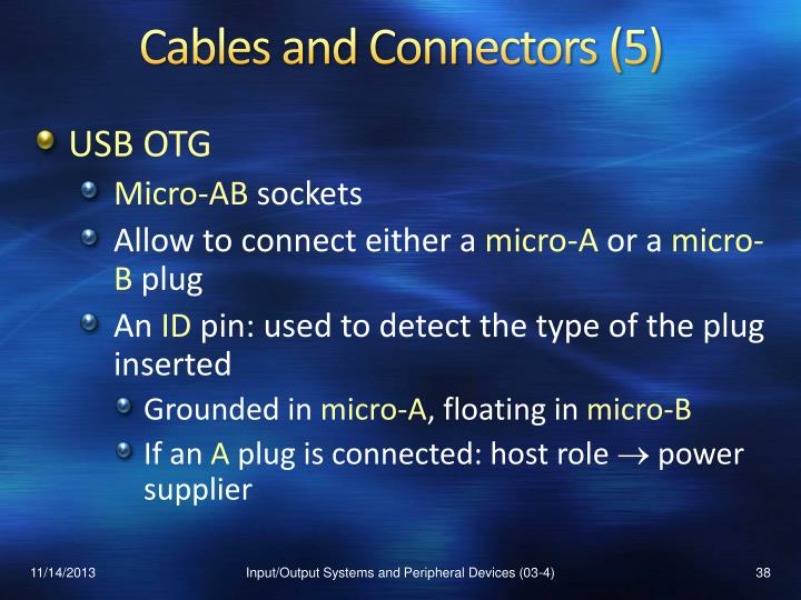Cables and Connectors (5)
