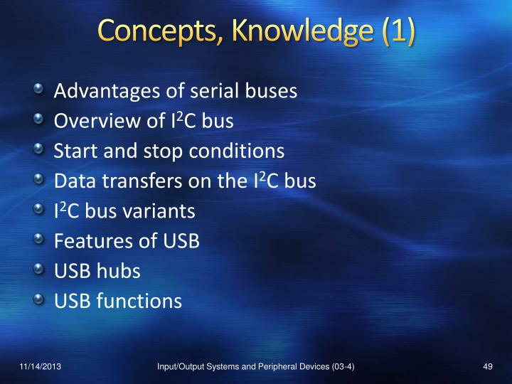 Concepts, Knowledge (1)