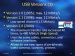 usb versions 1