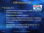 usb versions 3