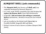 almquist shell ash commands