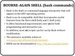 bourne again shell bash commands