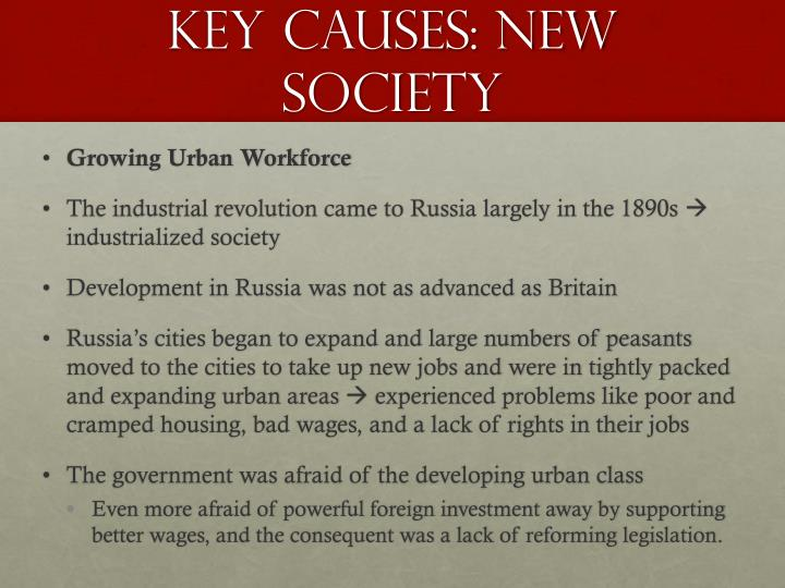 Key causes new society