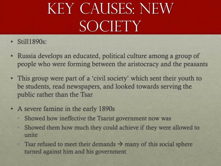 Key causes new society1