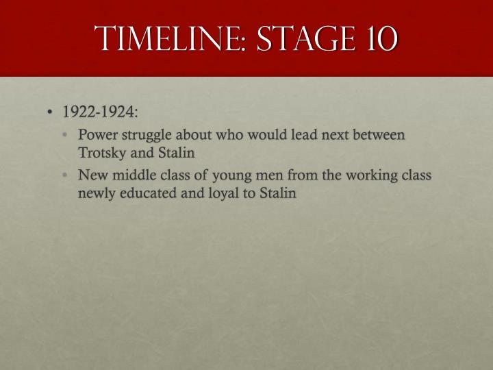 Timeline: Stage 10