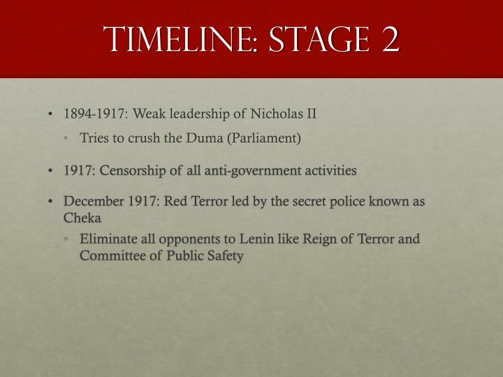 Timeline: Stage 2