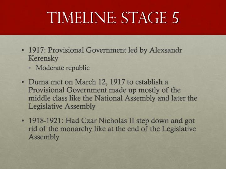 Timeline: Stage 5