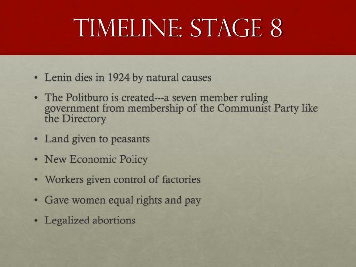 Timeline: Stage 8