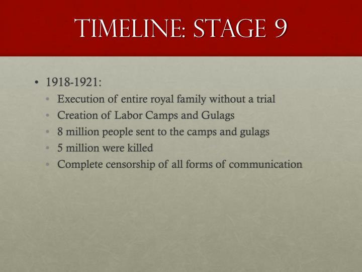 Timeline: Stage 9
