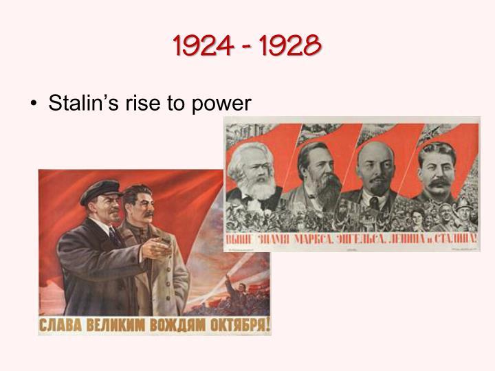 1924 - 1928