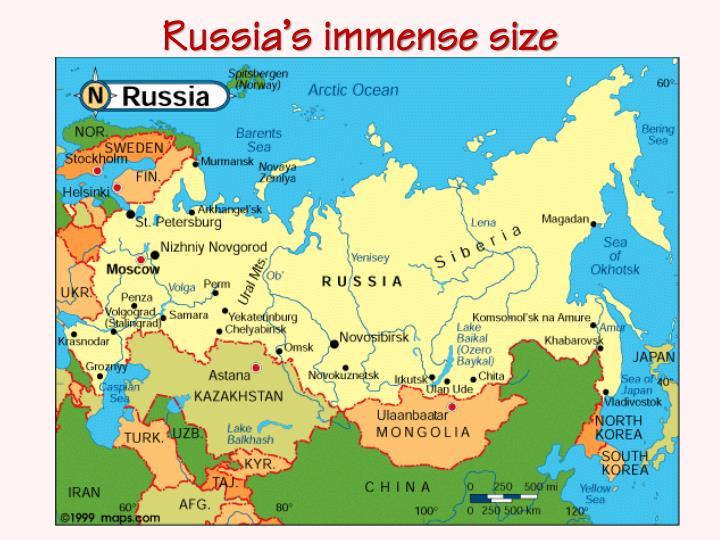 Russia's immense size