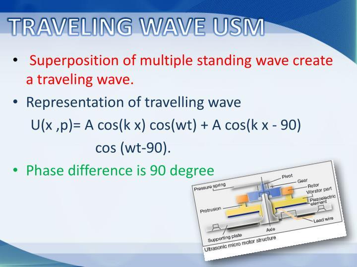 TRAVELING WAVE USM