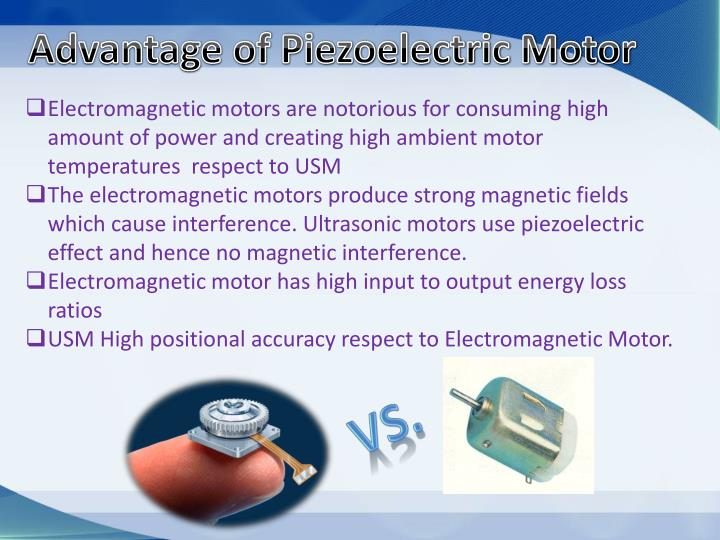 Advantage of Piezoelectric Motor