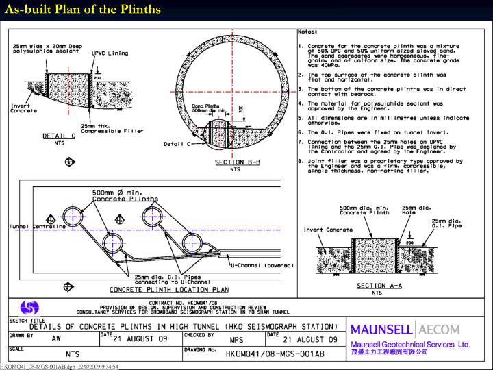As-built Plan of the Plinths