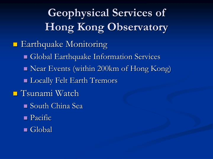 Geophysical Services of