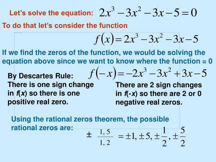 Let's solve the equation: