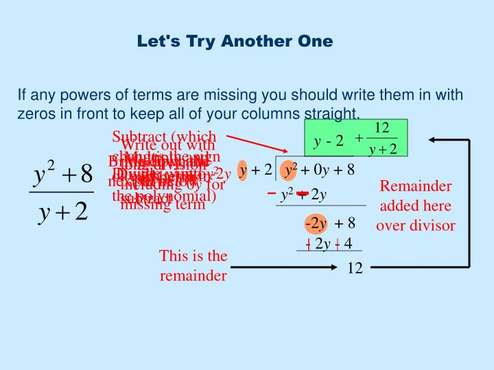 Write out with long division including 0