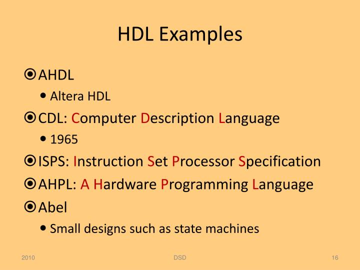 HDL Examples