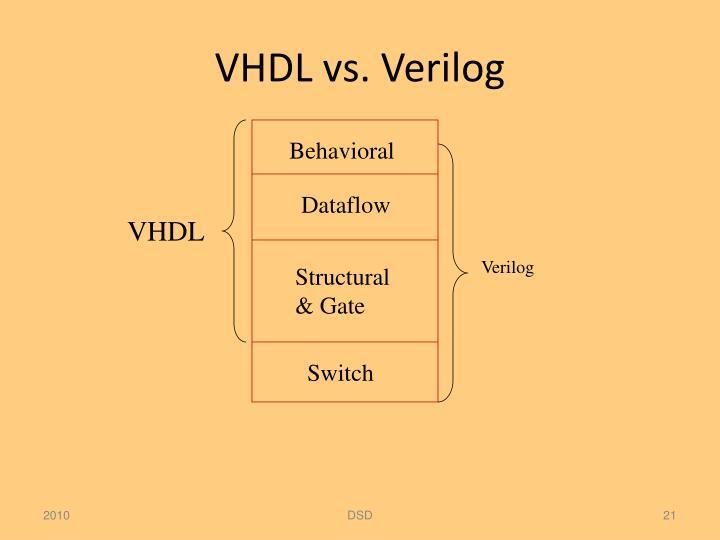 VHDL vs. Verilog