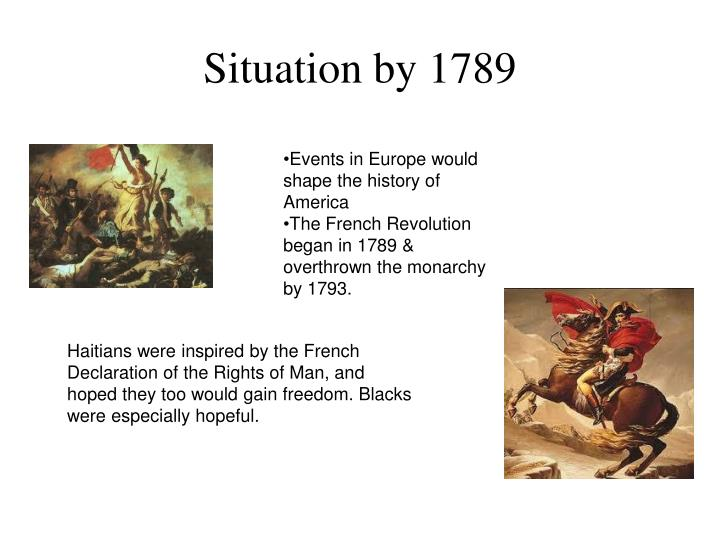 Situation by 1789