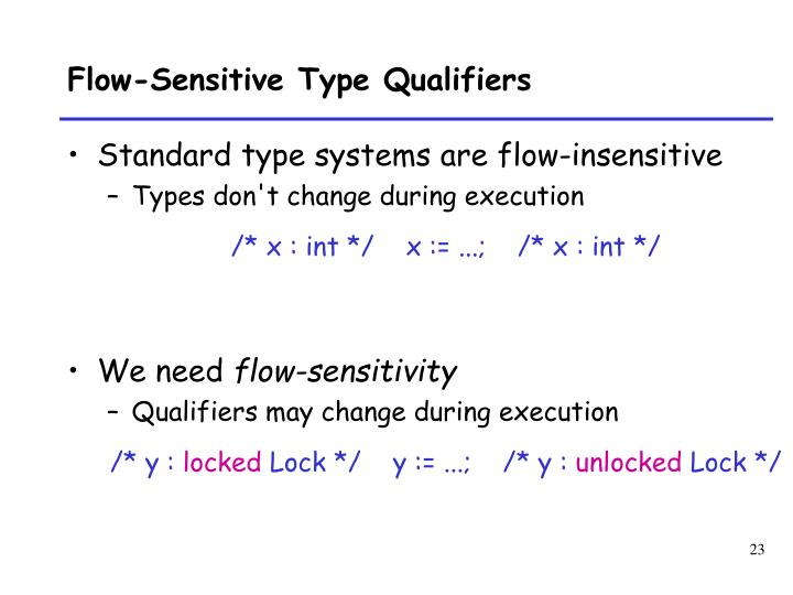 Flow-Sensitive Type Qualifiers