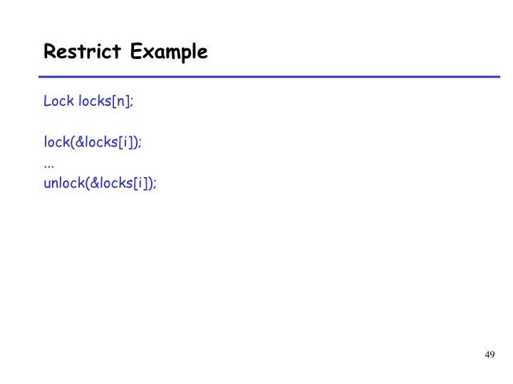 Restrict Example