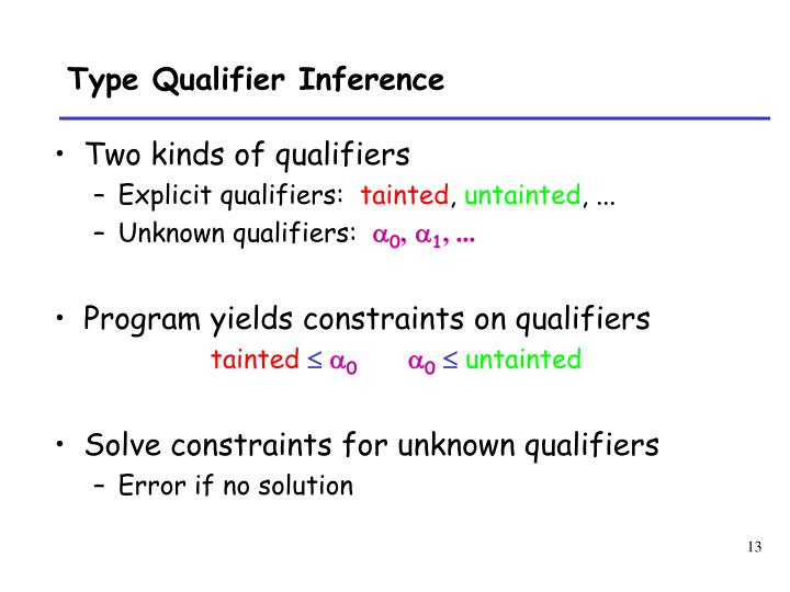 Type Qualifier Inference