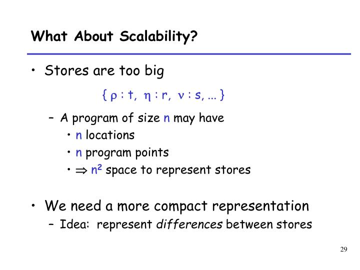 What About Scalability?