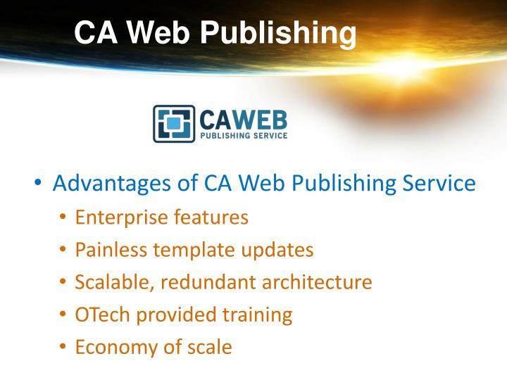 CA Web Publishing