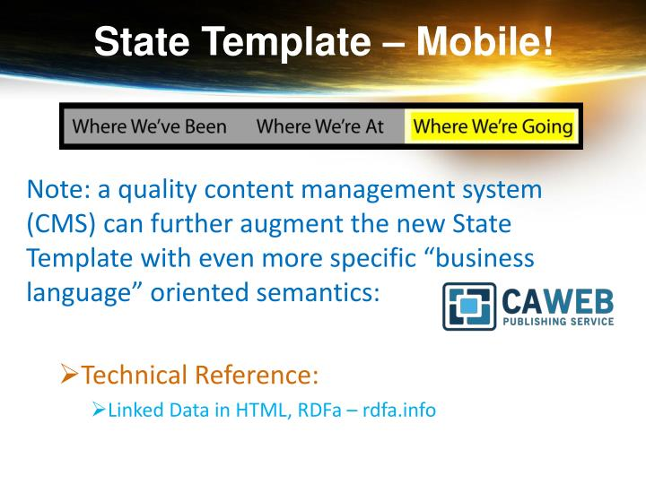 State Template – Mobile!