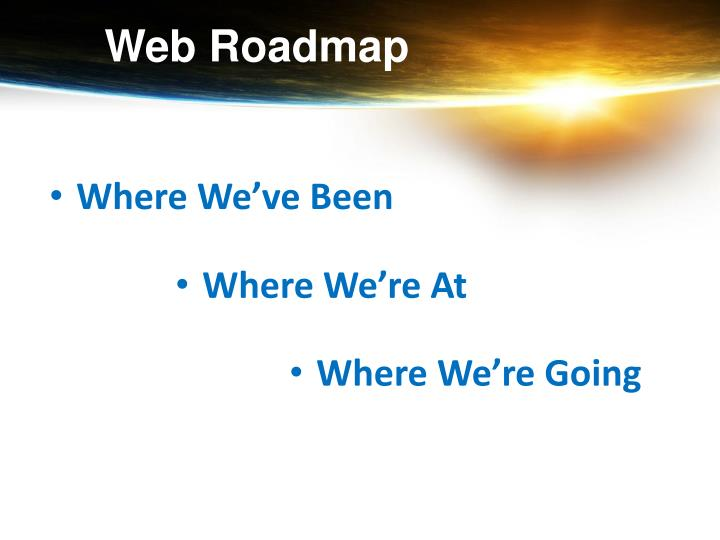 Web Roadmap