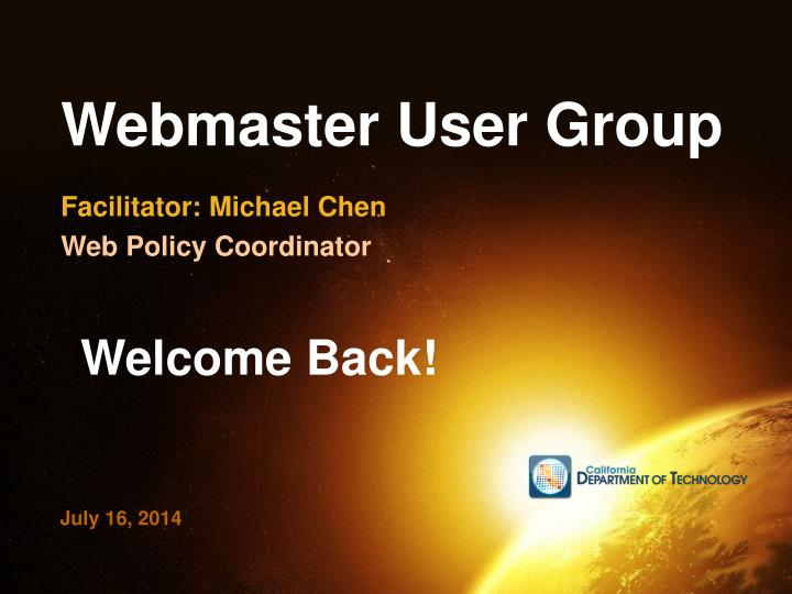 Webmaster user group1