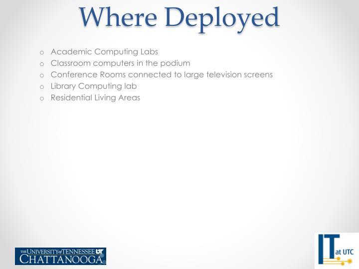 Where Deployed