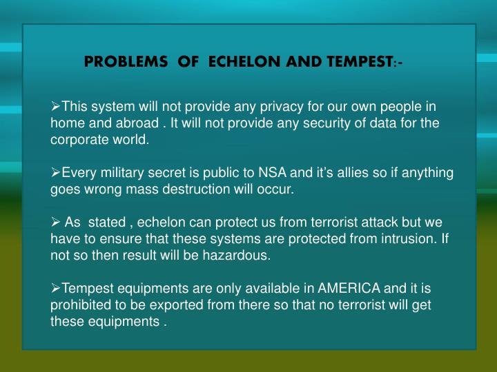 PROBLEMS  OF  ECHELON
