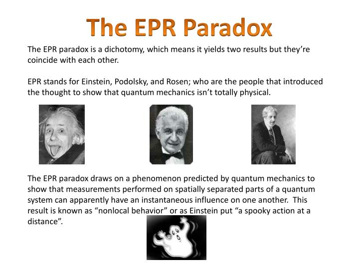 The EPR Paradox
