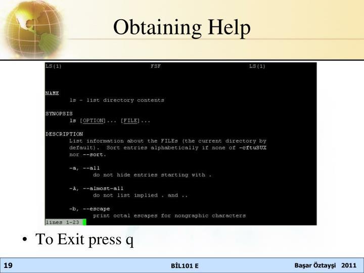 Obtaining
