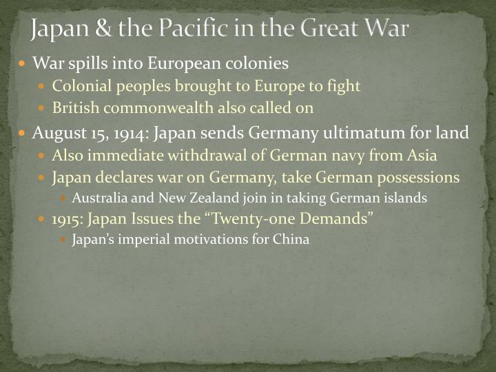 Japan & the Pacific in the Great War