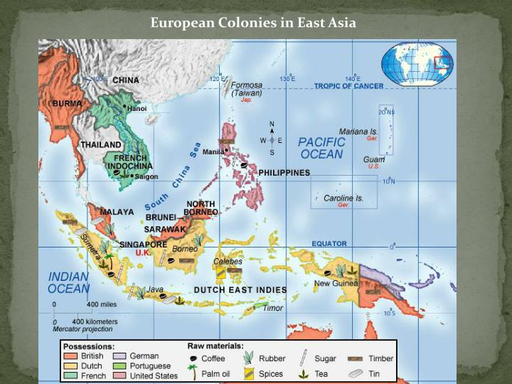 European Colonies in East Asia
