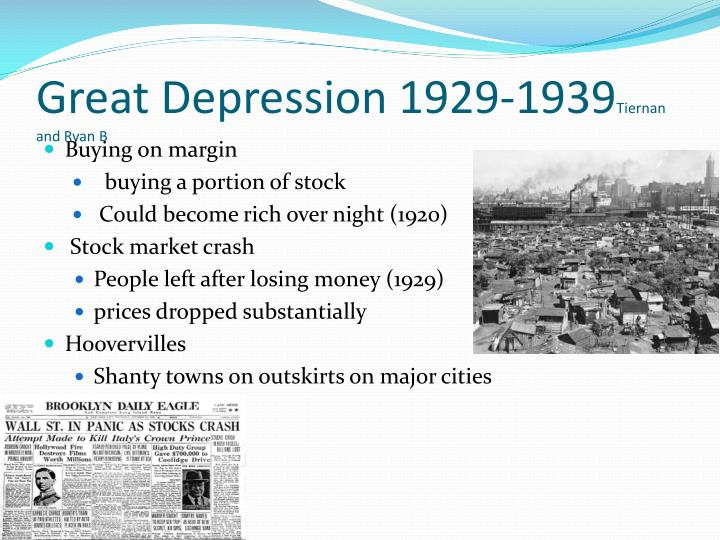 Great Depression 1929-1939