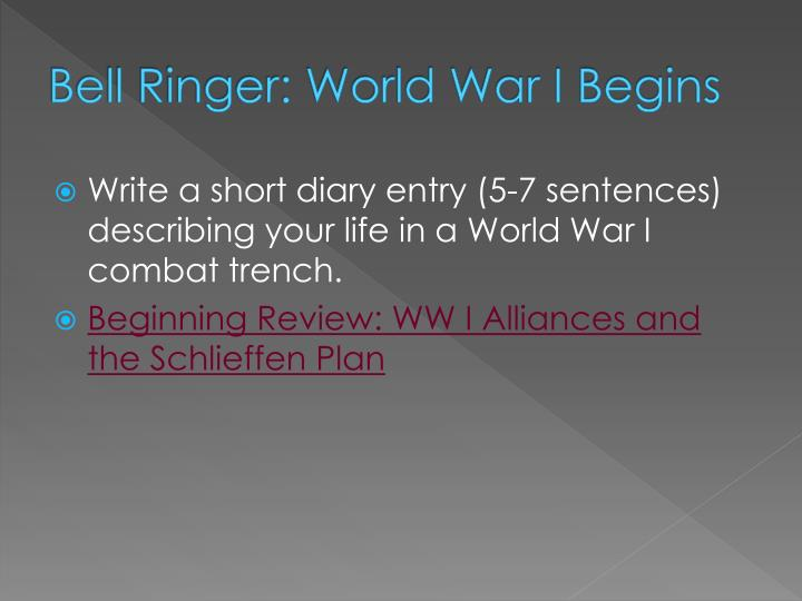 Bell Ringer: World War I Begins
