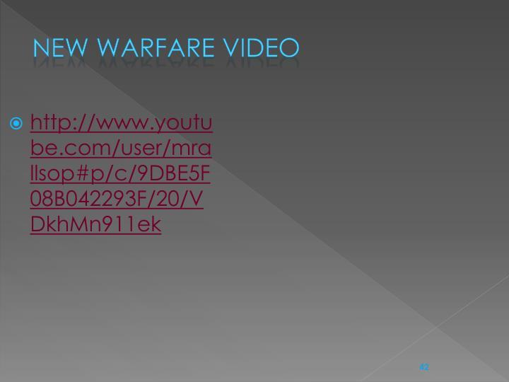 New Warfare video
