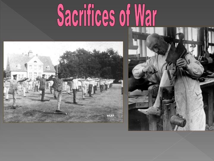 Sacrifices of War
