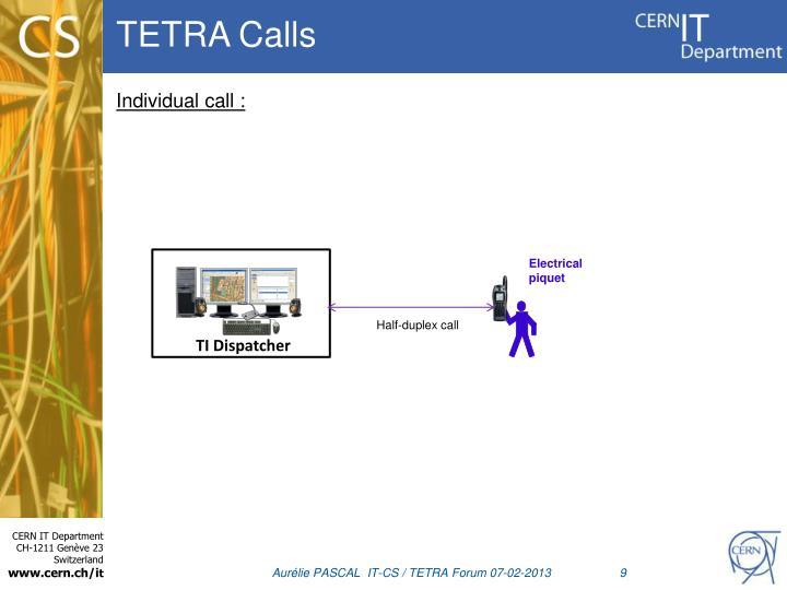 TETRA Calls