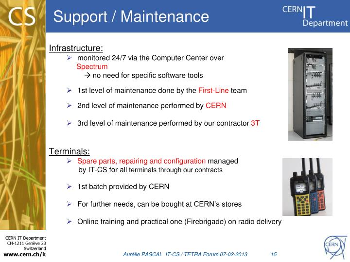 Support / Maintenance