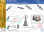 tetra calls emergency issue at surface