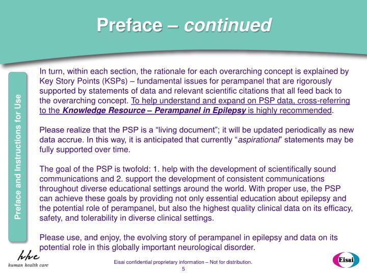Preface –