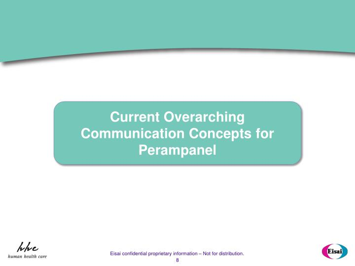 Current Overarching Communication Concepts for Perampanel