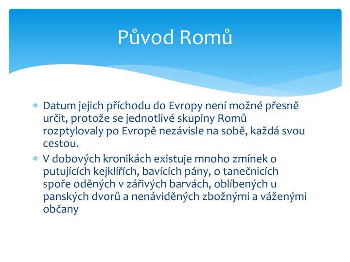 Původ Romů